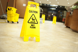 Wet Floor Signs, Office Lobby Floor Cleaning